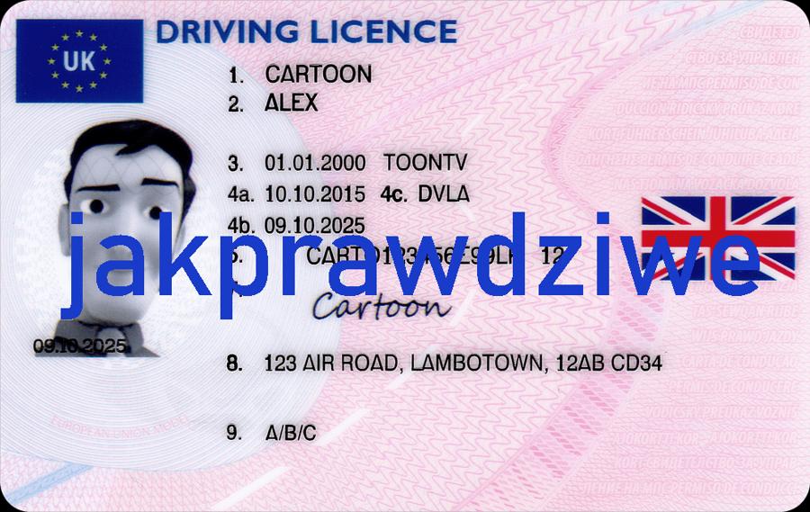 Angielskie prawo jazdy kolekcjonerskie